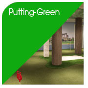 Indoor/ Outdoor Putting Greens sowie Modulare Putting Greens